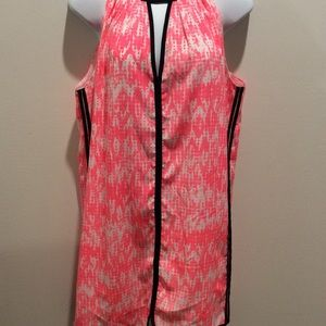 UNDER SKIES PINK AND WHITE SLEEVELESS DRESS SIZE S
